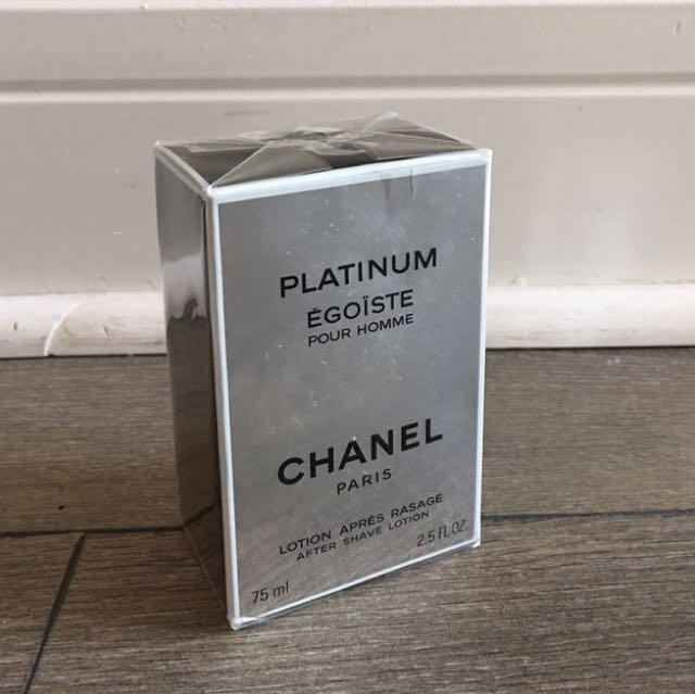 Chanel Platinum Egoiste after shave lotion