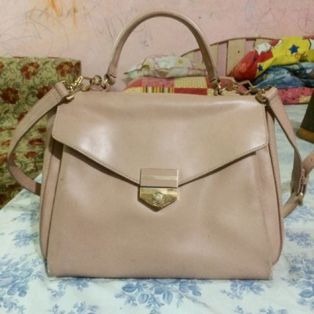 Charles and Keith Old Rose bag