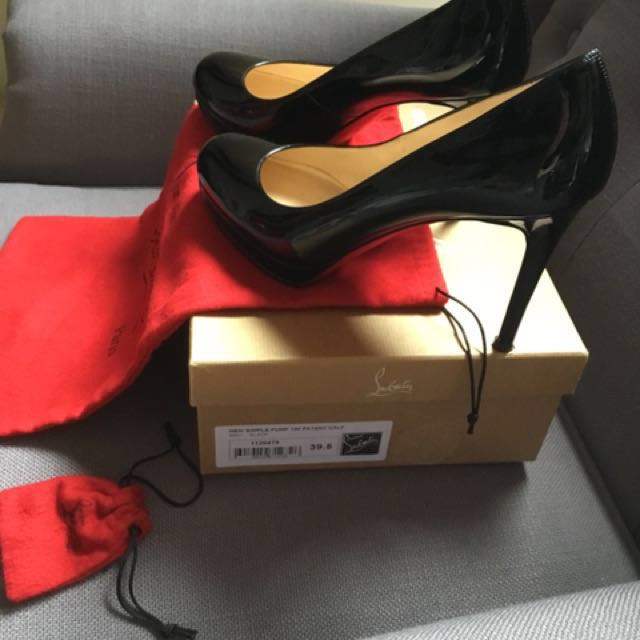Christian Louboutin New Simple Pump 100 Patent Black Size - 39.5