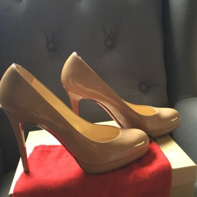 Christian Louboutin New Simple Pump 120 Patent Nude -Size 40