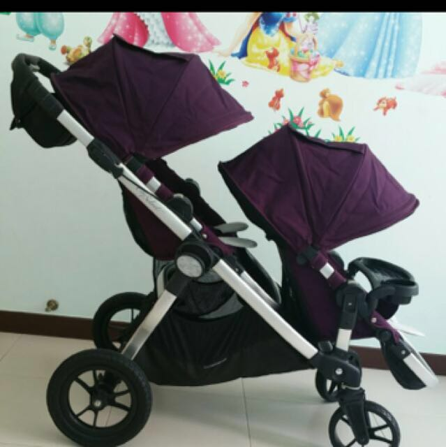 City Select Double Stroller Babies Kids Strollers Bags