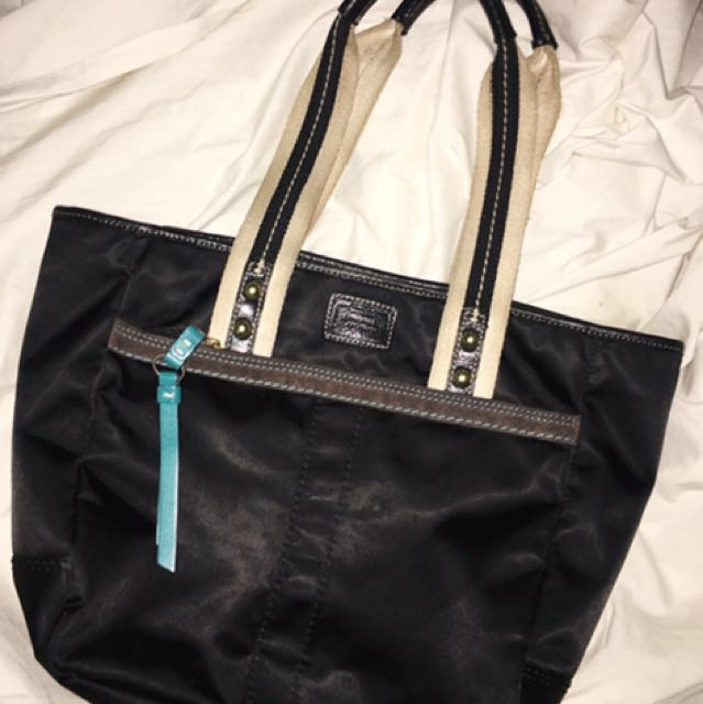 Coach Black Hampton Weekend Bag
