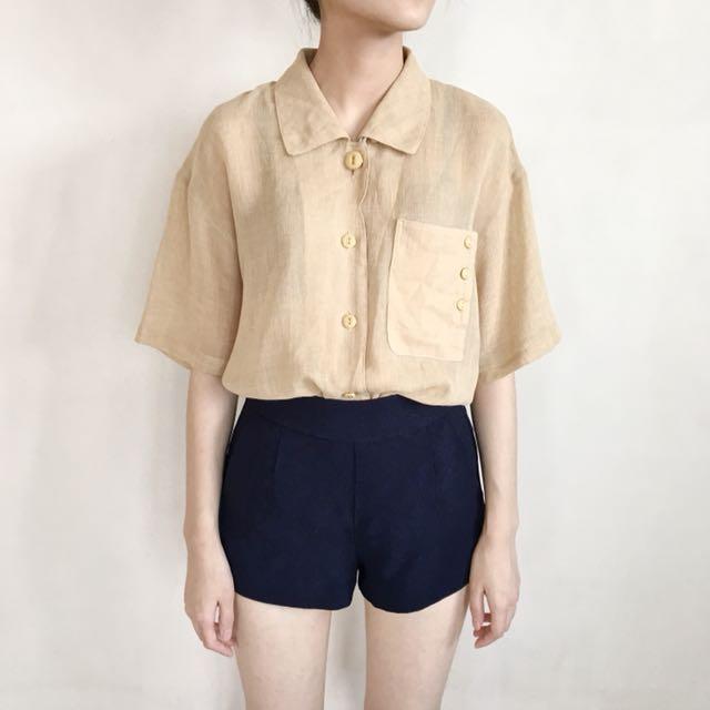 Cream Classic Shirt