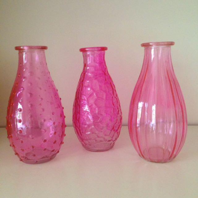 Decorative pink vases