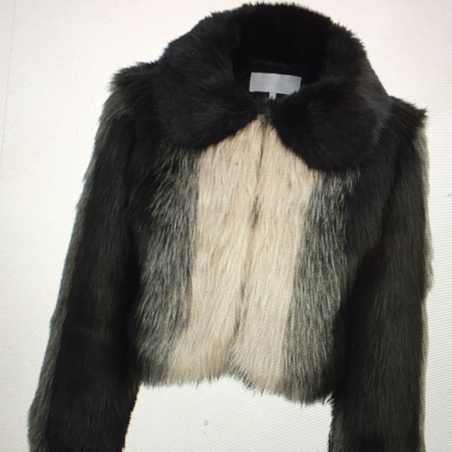 Designer duchess fur bomber jacket