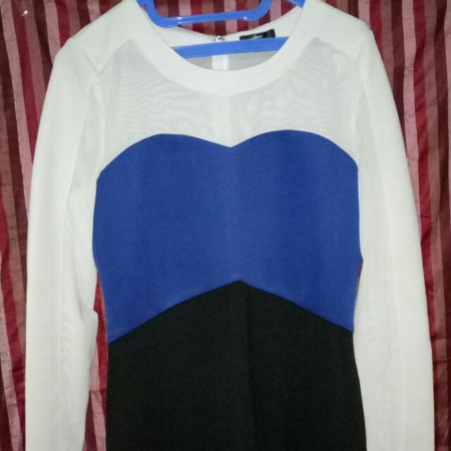 Serba 50rb - Dress Putih•Biru•Hitam