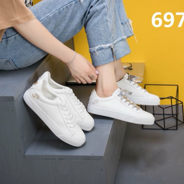 faux korean lace up sneakers