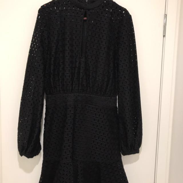 Finders keepers black broderie dress