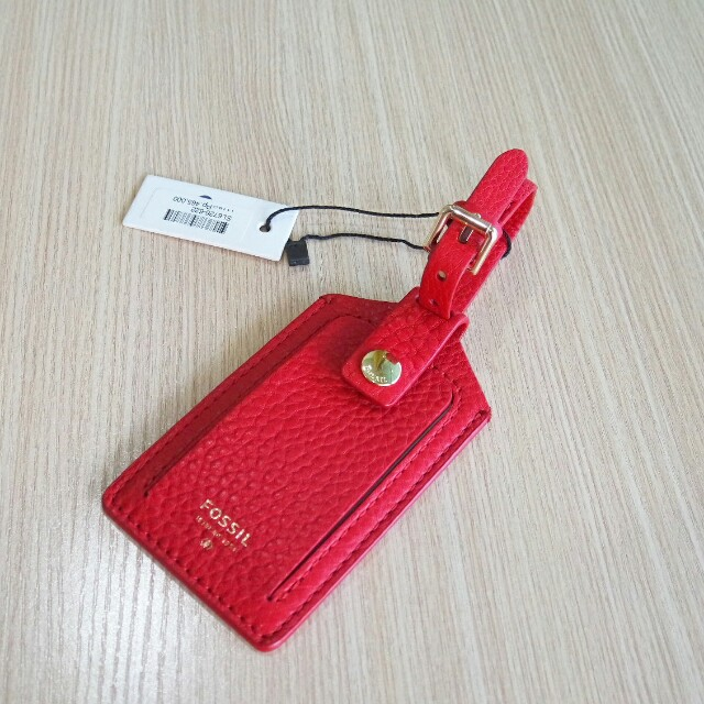 Fossil Authentic Leather Luggage Tag original christmas gift