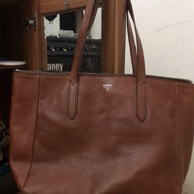 Fossil sidney shopper brown
