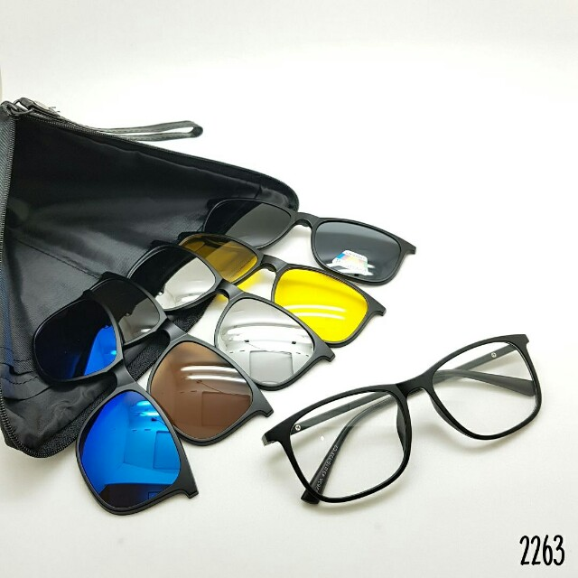 Frame kacamata paket lensa minus clip on 5 lensa 2263 5d4f268bd6