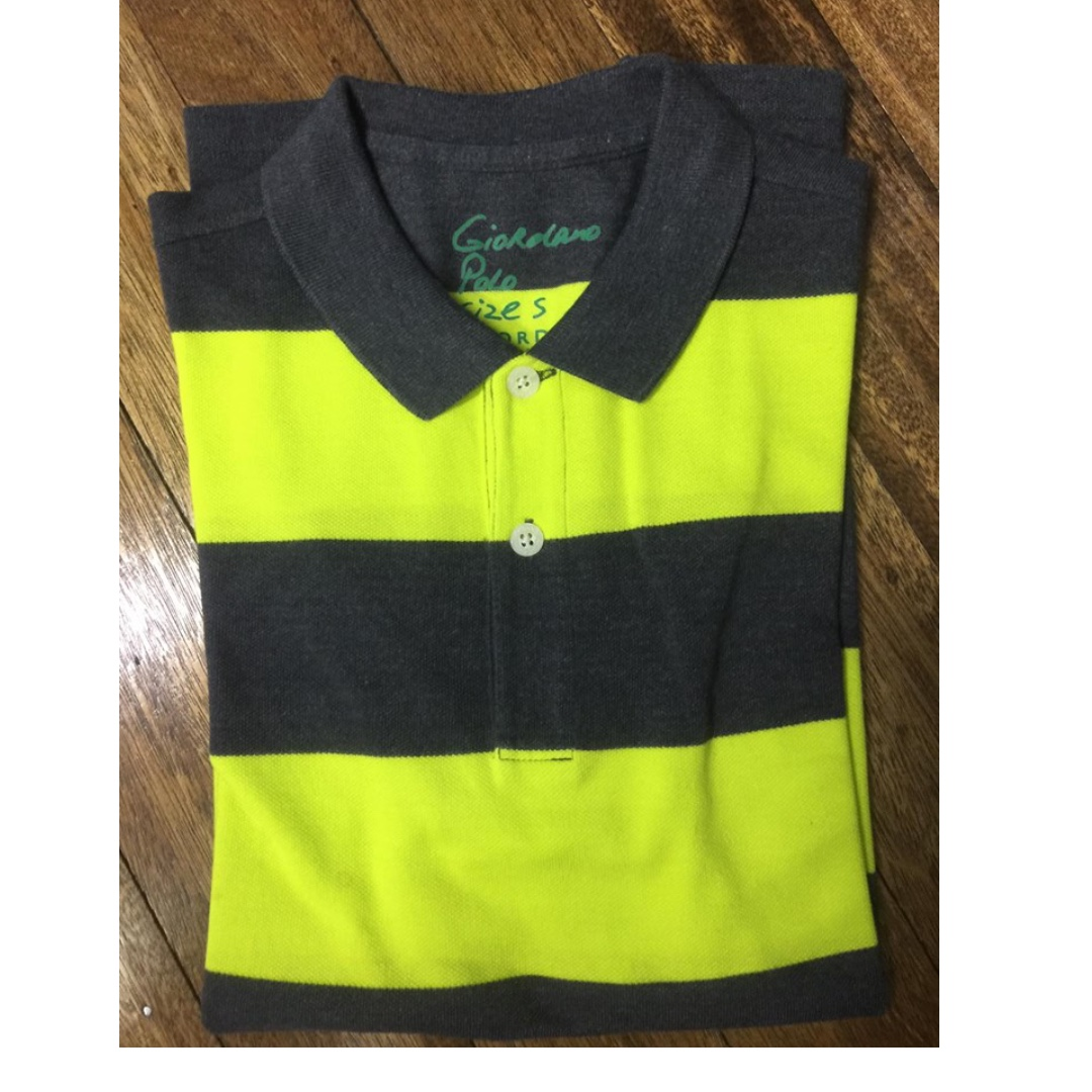 [3 for P1000] Giordano Green/Dark Green-striped Polo Shirt