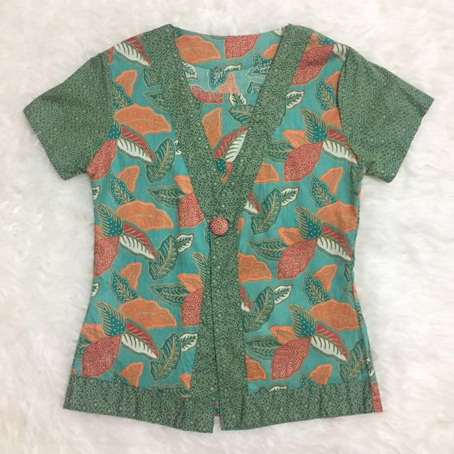 Green Batik Print
