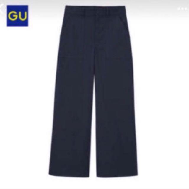 Gu寬版工作褲