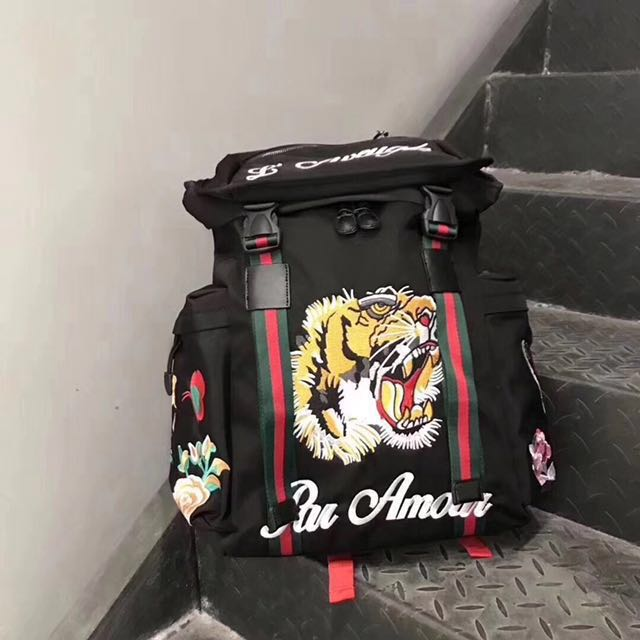ba3a47007cc Gucci Techpack with embroidery tiger backpack  PBF80