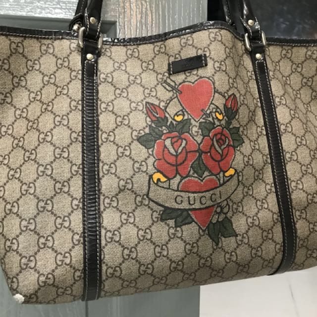 Gucci Tote Bag Authentic ( tattoo print limited edition )