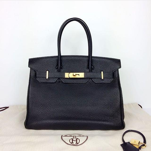 Hermès Birkin in Black and Gold Hardware