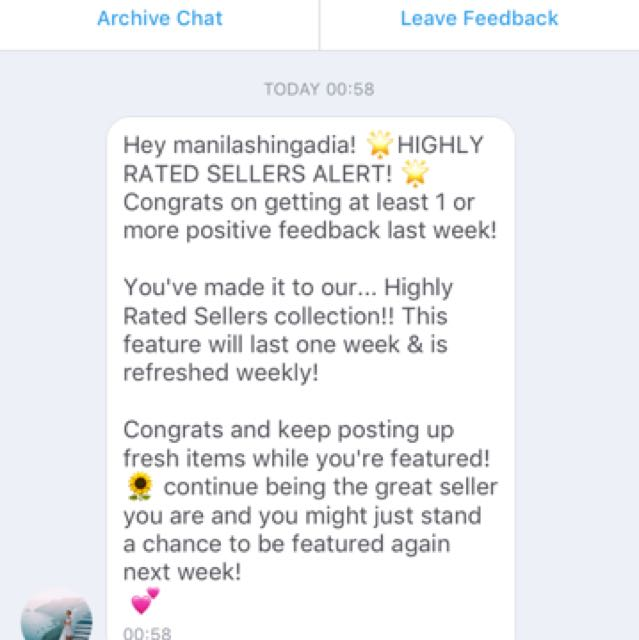 👏🏼HIGHLY RATED SELLER 👏🏼😘