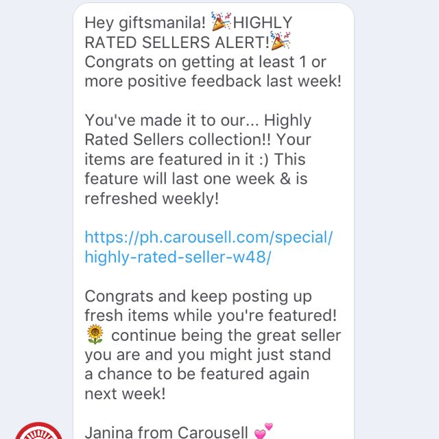 *HIGHLY RATED SELLER OF THE WEEK🙌🏻