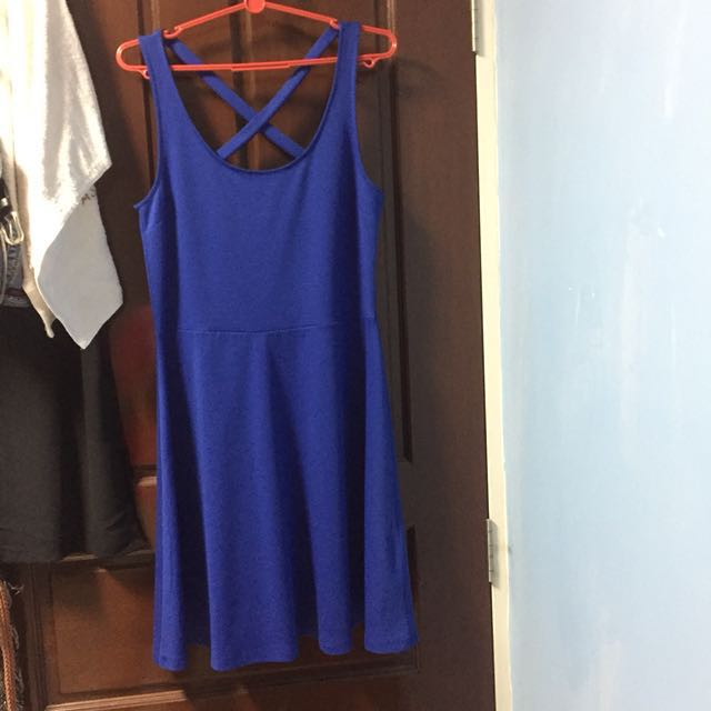H&M X-Back Blue Dress