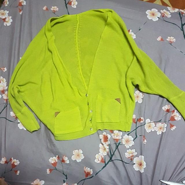 **HOLIDAY ALERT SALE**Yellow green cardigan