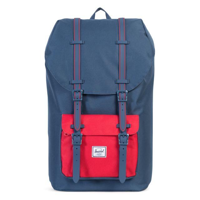 4d98045a6ad Instock  Herschel Little America Blue Red Insert Blue strap