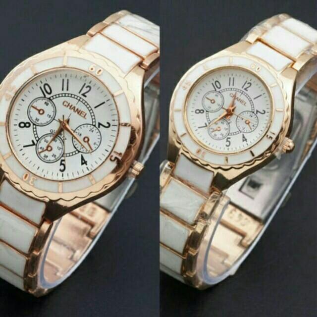 Jam Tangan Chanel Couple Rantai Keramik
