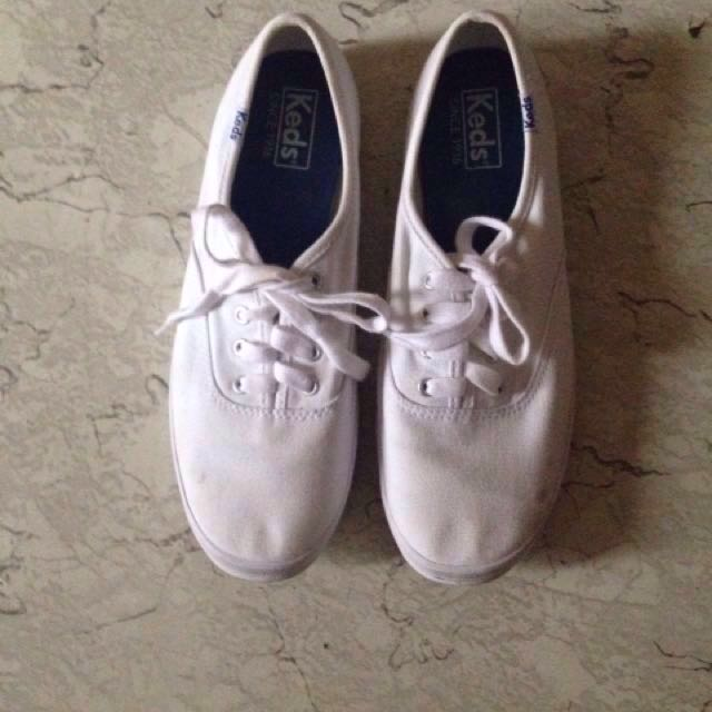 Keds white sneakers authentic