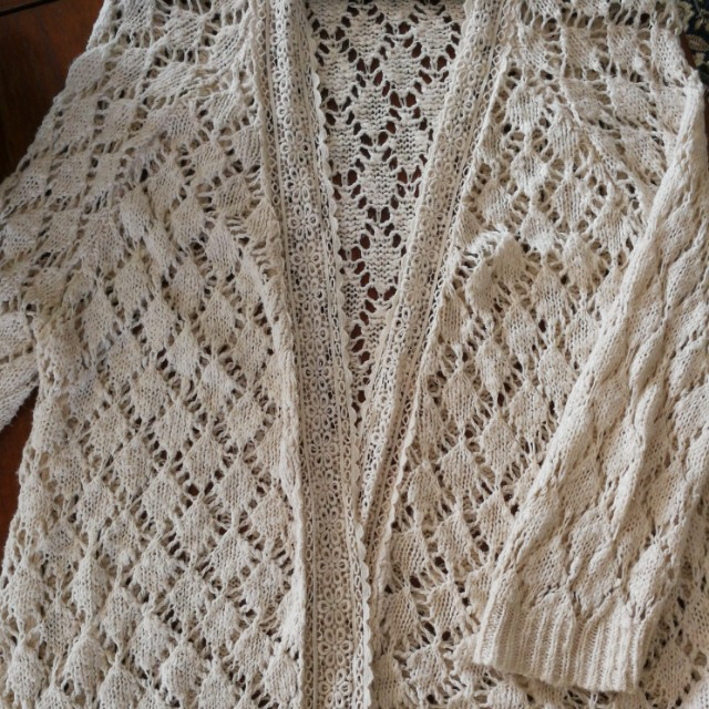 Knitted Crochet Cardigan