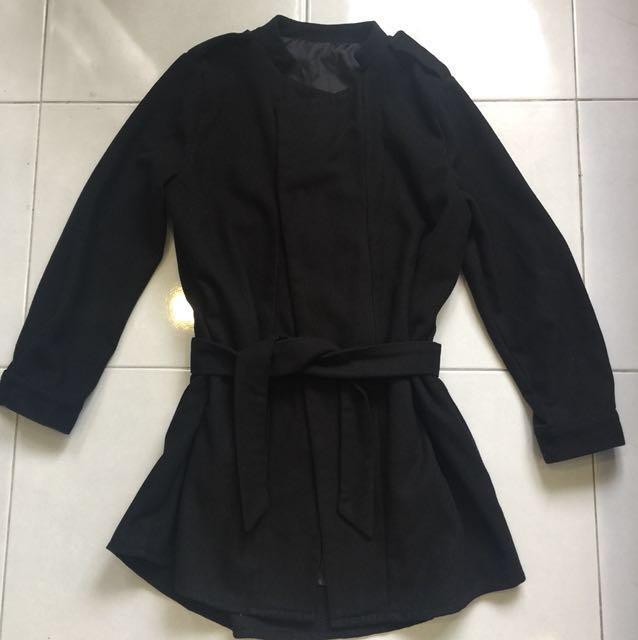 Korea Stylish Black Coat