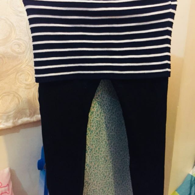 Korean Outfit - Leggings with Skirt