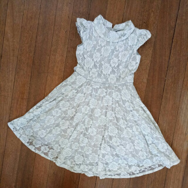 Lace Dress Grey