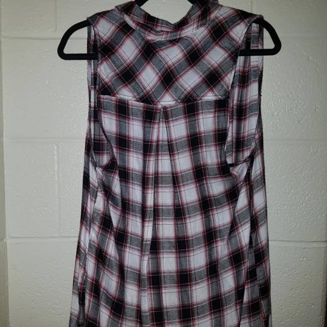 Long plaid vest