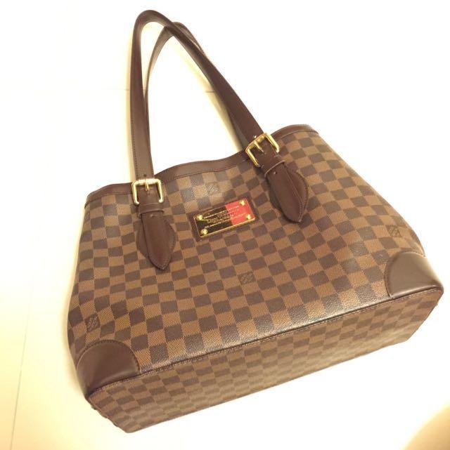 louis Vuitton 專櫃正品 LV 限量 經典棋盤格 肩背包 側背包 方包 梯型 購物袋 西班牙製造
