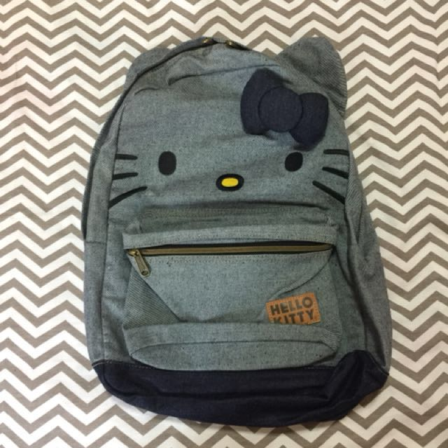 Loungefly Hello Kitty Denim Backpack, Women s Fashion, Bags   Wallets on  Carousell b78b42667a