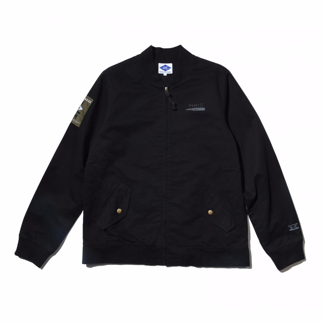 MADNESS TANKER JACKET MA-1  黑L 夾克 余文樂著