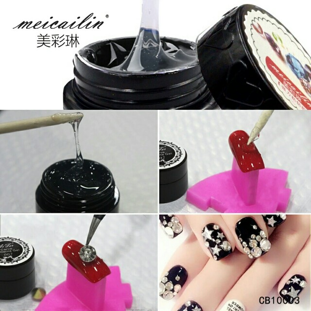 Meicailin 5g Nail Art Foils Transfer Glue Adhesive Star Gel Polish Tools False Sticker Accessory Health Beauty Hand Foot Care On