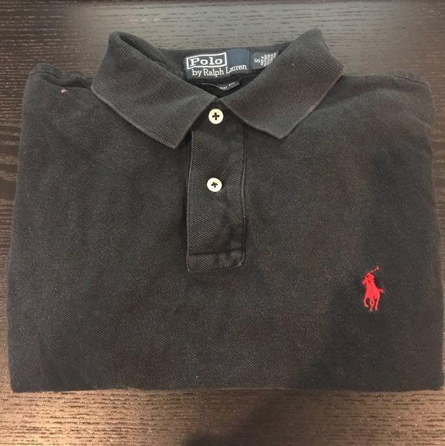 Men's Polo Ralph Lauren size S black polo t-shirt