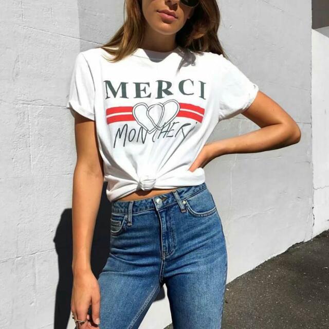 985c80b4c Merci Mon Cheri Oversized Bf Top, Women's Fashion, Clothes, Tops on  Carousell
