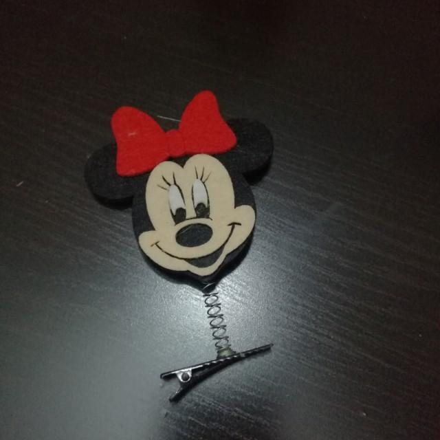 Minnie Hairclip Christmas