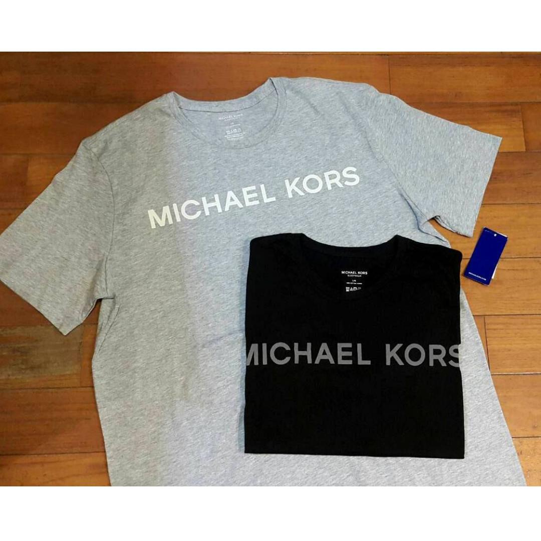 現貨黑M/L 灰色L號   Michael Kors 男生 簡單 LOGO 低調 有型 純棉上衣 素TEE 美國棉 美國購買