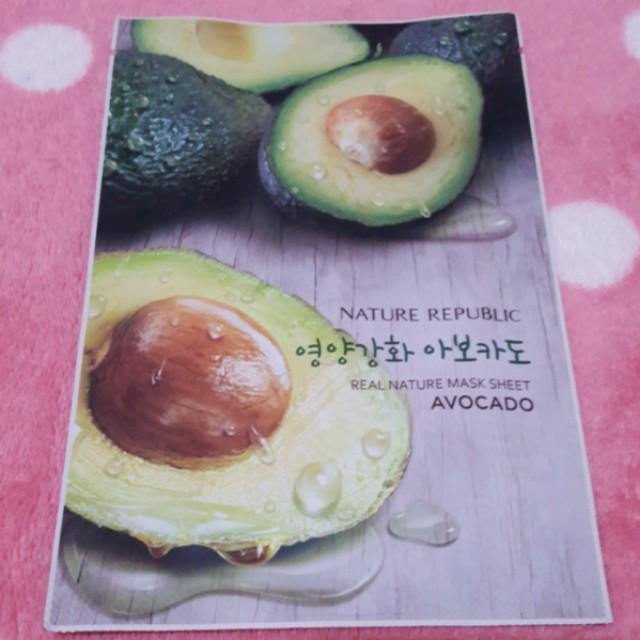 Nature Republic Real Nature Mask Sheet Avocado