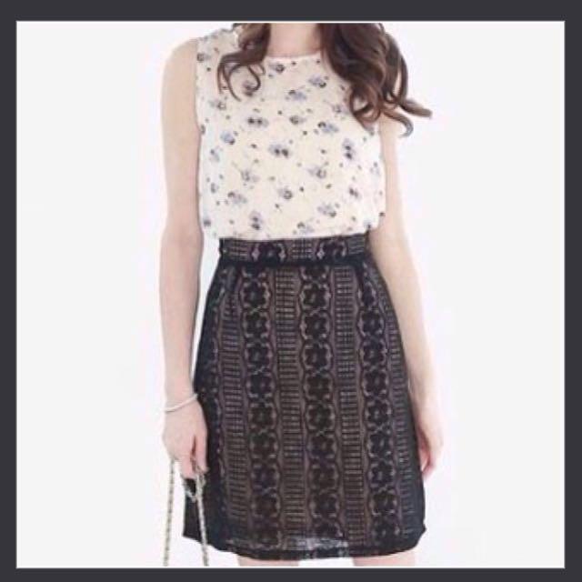 NEW Black Lace Skirt