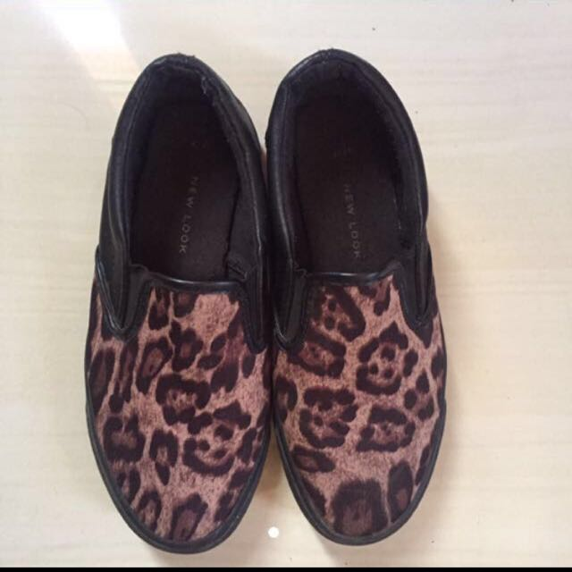 New Look Black Leopard Shoes