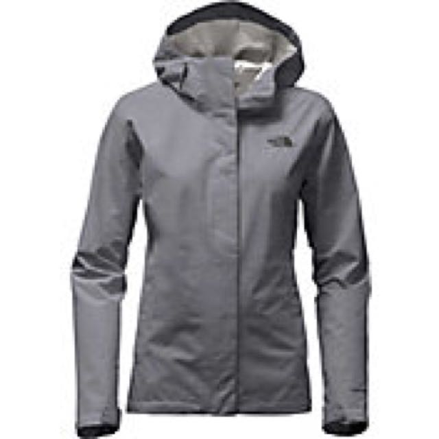 North face grey women's light coat
