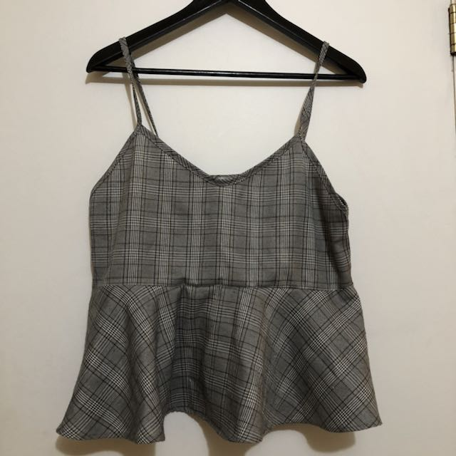 Oak and Fort plaid top