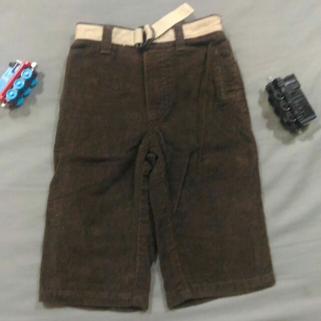 Old Navy Brown Corduroy Pants with Belt for Baby Boy, Size: 6-12 mos.