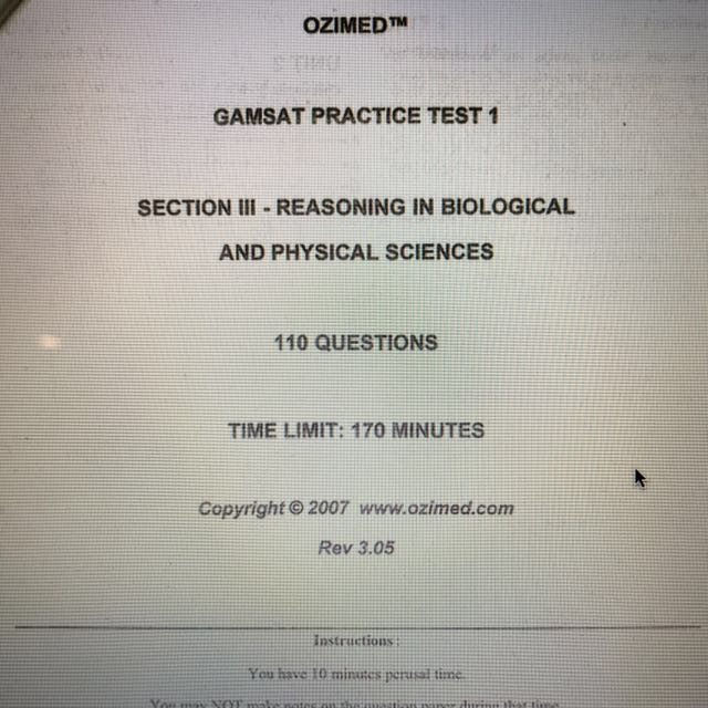 ozimed practice papers