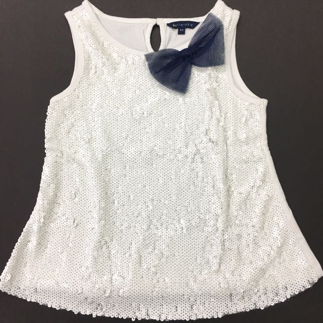 Periwinkle size 6 formal top with ribbon