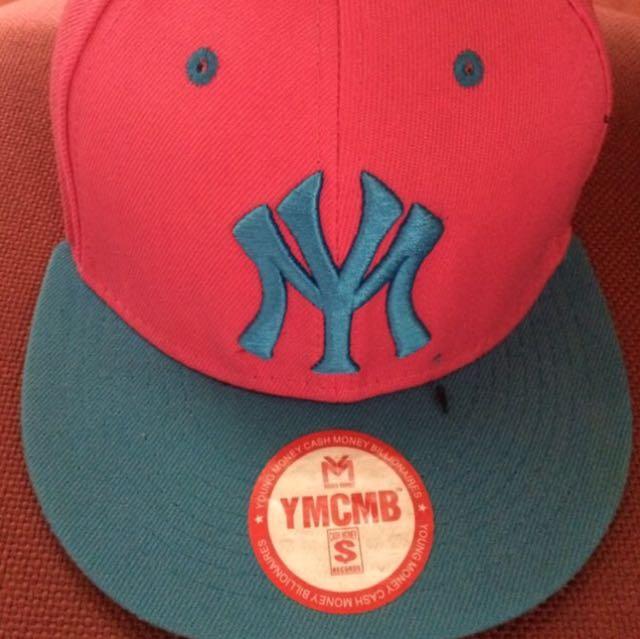 Pink & Blue NY YMCMB Snapback / Topi